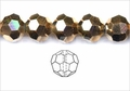 Metallic Gold Crystal 12mm Faceted Round Beads 50 pcs.