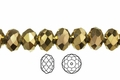 Metallic Gold Crystal 3x4mm Faceted Rondelle Beads 100 pcs.