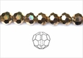 Metallic Gold Crystal 4mm Faceted Round Beads 100 pcs.