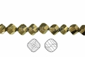Metallic Gold Crystal 8mm Faceted Helix Beads 68-72 pcs.