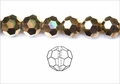 Metallic Gold Crystal 8mm Faceted Round Beads 72 pcs.