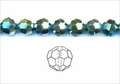 Metallic Green Crystal 4mm Faceted Round Beads 100 pcs.