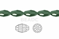 Metallic Green Crystal 6x8mm Faceted Rice Beads 72 pcs.
