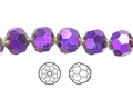 Metallic Purple Crystal 12mm Faceted Round Beads 40 pcs.