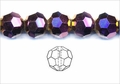 Metallic Purple Crystal 12mm Faceted Round Beads 50 pcs.