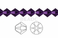 Metallic Purple Crystal 4mm Faceted Bicone Beads 120 pcs.