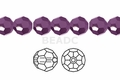 Metallic Purple Crystal 6mm Faceted Round Beads 100 pcs.