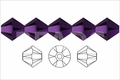 Metallic Purple Crystal 8mm Faceted Bicone Beads 40 pcs.