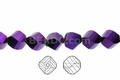 Metallic Purple Crystal 8mm Faceted Helix Beads 68-72 pcs.