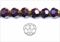 Metallic Purple Crystal 8mm Faceted Round Beads 72 pcs.