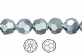 Metallic Silver Crystal 6mm Faceted Round Beads 72 pcs.