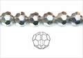 Metallic Silver Crystal 8mm Faceted Round Beads 72 pcs.