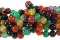 Mix Agate 8mm Round Beads 16""