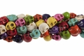 (HOT) Mix Color Magnesite 10x8mm Skull Beads 15.5""