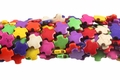 Mix Color Magnesite 15mm Cross Shaped Beads 15.5""