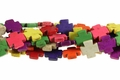 Mix Color Magnesite 20mm Cross Shaped Beads 15.5""