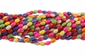Mix Color Magnesite 6x8mm Rice Beads 15.5""