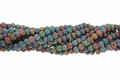 Mix Color Volcano Lava Stone 6mm-7mm Round Beads 15.5""