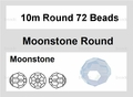 Moonstone Opalite 10mm Faceted Round Beads 72 pcs.