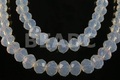 Moonstone Opalite 12x8mm Faceted Rondelle Beads 72 pcs.