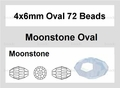 Moonstone Opalite 4x6mm Faceted Rice Beads 72 pcs.