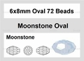 Moonstone Opalite 6x8mm Faceted Rice Beads 72 pcs.