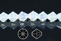 Moonstone Opalite 8mm Faceted Bicone Beads 40 pcs.