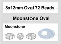 Moonstone Opalite 8x12mm Faceted Rice Beads 72 pcs.