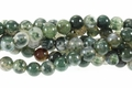 Moss Agate 8mm Round Beads 16""
