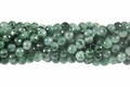 Moss Jade 8mm Faceted Round Beads 16""