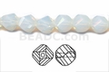 Moonstone Opalite 8mm Faceted Helix Beads 68-72 pcs.