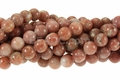 Peachy Jade 8mm Round Beads 16""