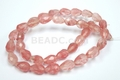 Pink Cherry Quartz 7x10mm Faceted Tear Drop Beads 15.5""
