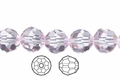 Pink Crystal 10mm Faceted Round Beads 50 pcs.