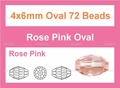 Pink Crystal 4x6mm Faceted Rice Beads 15.5""