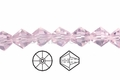 Pink Crystal 8mm Faceted Bicone Beads 40 pcs.