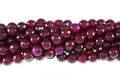 Pink Rose Agate 8mm Faceted Round Beads 15.5""