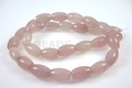 Pink Rose Quartz 8x12mm Rice Beads 15.5""