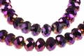 Purple AB Crystal 8x12mm Faceted Rondelle Beads 72 pcs.