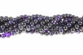 Purple Agate 8mm Round Beads 15.5""