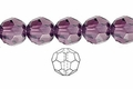 Purple Amethyst Crystal 10mm Faceted Round Beads 50 pcs.