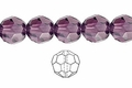 Purple Amethyst Crystal 12mm Faceted Round Beads 40 pcs.