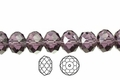 Purple Amethyst Crystal 3x4mm Faceted Rondelle Beads 100 pcs.