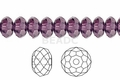 Purple Amethyst Crystal 4x6mm Faceted Rondelle Beads 100 pcs.