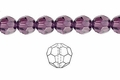 Purple Amethyst Crystal 6mm Faceted Round Beads 72 pcs.
