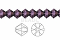 Purple Amethyst Crystal 8mm Faceted Bicone Beads 40 pcs.