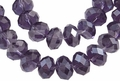 Purple Amethyst Crystal 8mm Faceted Rondelle Beads 68-72 pcs.