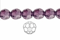 Purple Amethyst Crystal 8mm Faceted Round Beads 50 pcs.