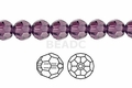Purple Amethyst Crystal 8mm Faceted Round Beads 72 pcs.