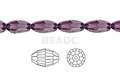 Purple Amethyst Crystal 8x12mm Faceted Rice Beads 72 pcs.